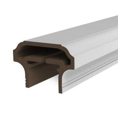 White Resalite Composite 96 in. Transform Top Rail Beam Kit