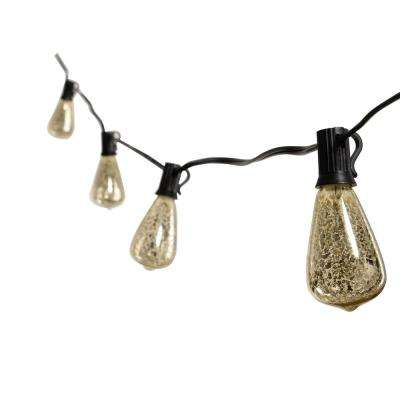 10-Light Silver Mercury Edison Bulb String Light