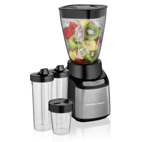 Hamilton Beach Stay or Go Travel-Sized 32 oz. 2-Speed Black Blender