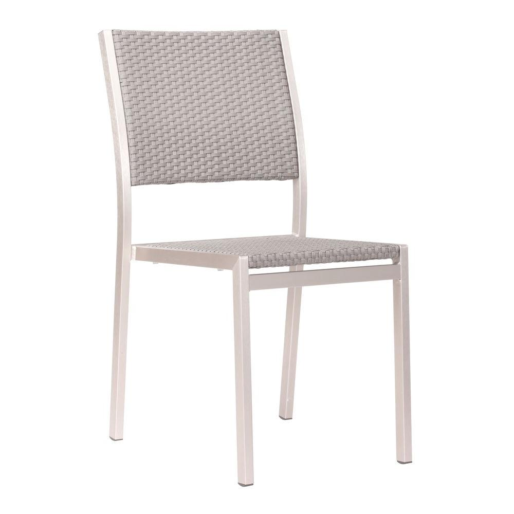 ZUO Metropolitan Brushed Aluminum Patio Dining Chair