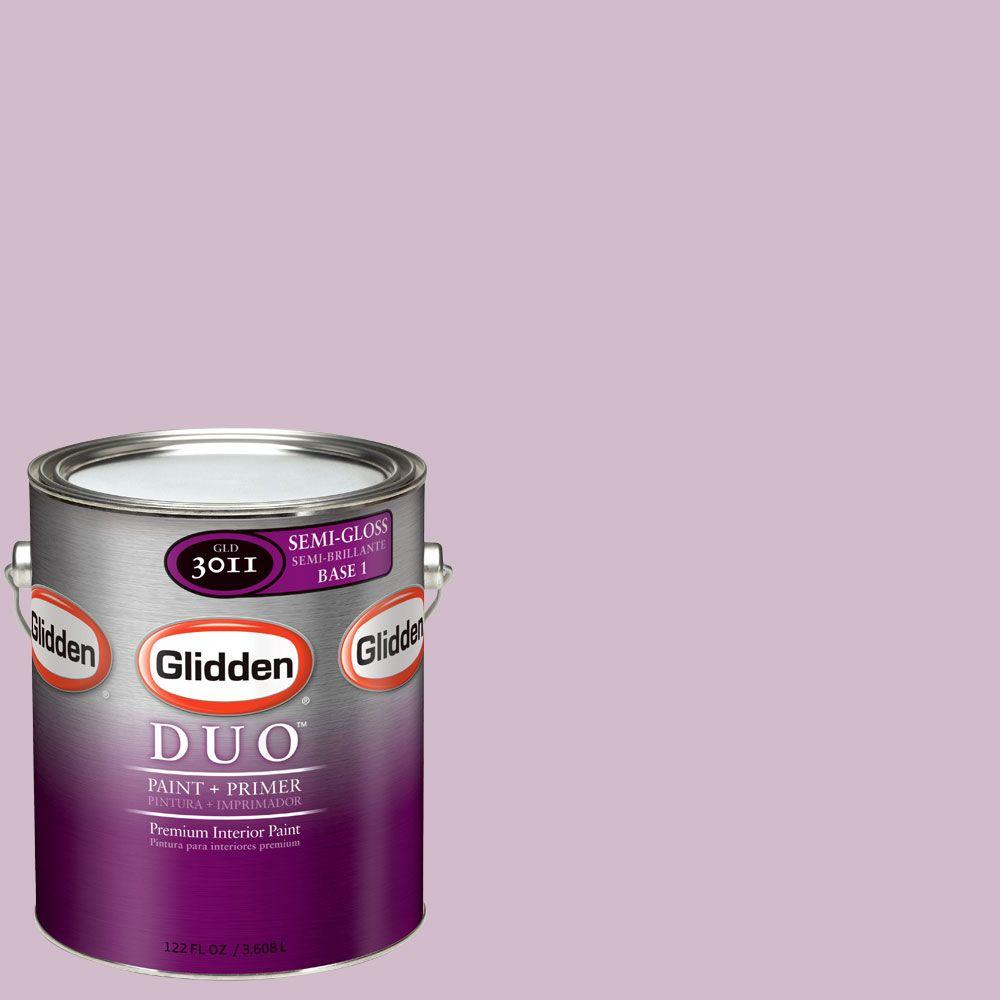 Glidden DUO Martha Stewart Living 1-gal. #MSL186-01S Lavender Verbena Semi-Gloss Interior Paint with Primer - DISCONTINUED