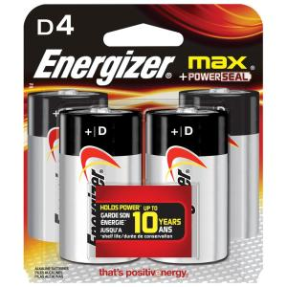 MAX Alkaline D Battery (4-Pack)