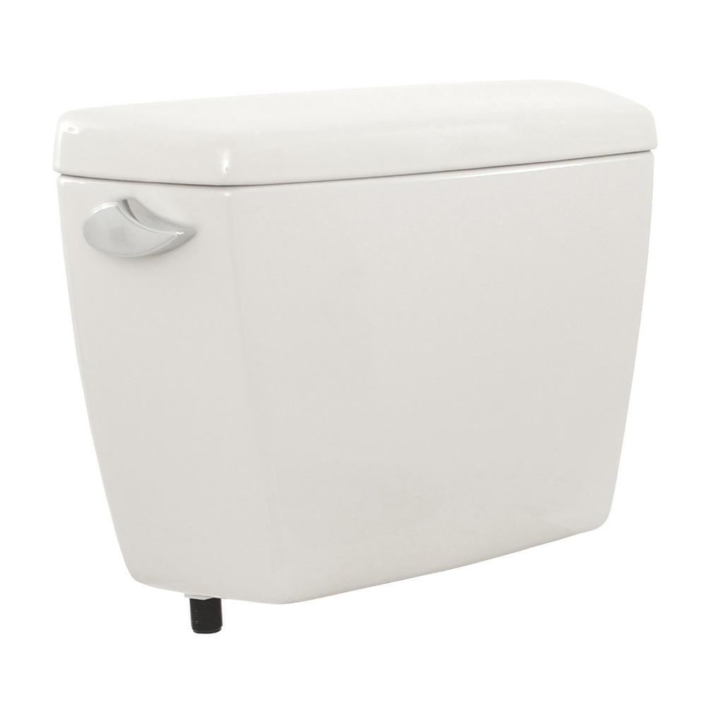 TOTO Drake 1.6 GPF Single Flush Toilet Tank Only with Wide Flush Valve in Cotton White