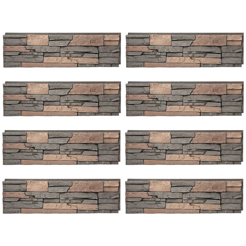 Stacked Stone Stratford 12 in. x 42 in. Faux Stone Siding