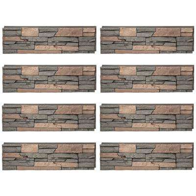 Stacked Stone Stratford 12 in. x 42 in. Faux Stone Siding Half Panel (8-Pack)