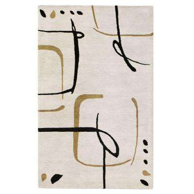 Fragment Snow 10 ft. x 14 ft. Area Rug