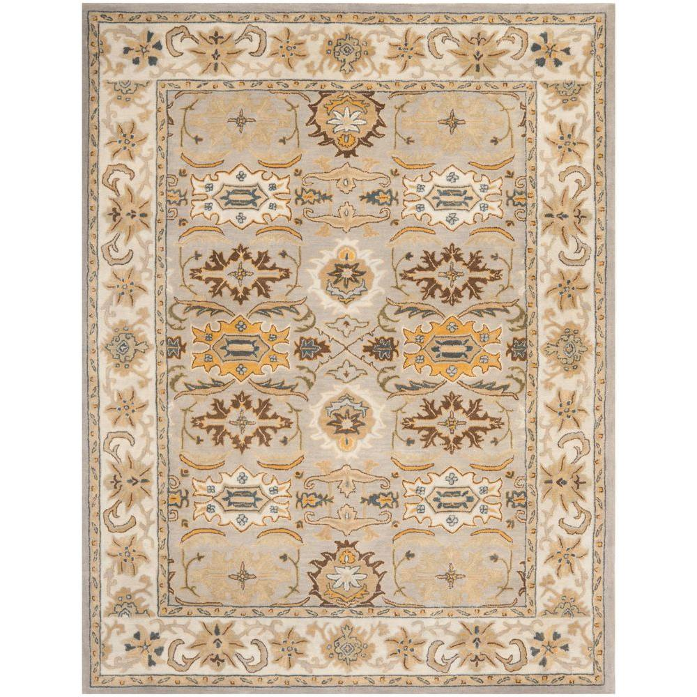 Heritage Light Grey/Grey 9 ft. x 12 ft. Area Rug