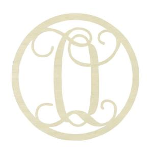 jeff mcwilliams designs 19 in unfinished single circle monogram o
