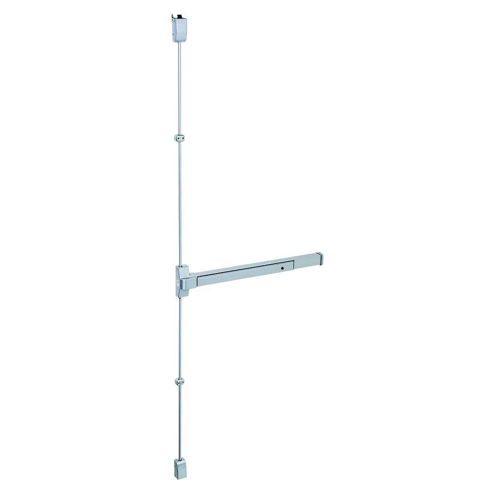 Global Door Controls 36 in. Aluminum Touch Bar Surface Vertical Rod Exit Device