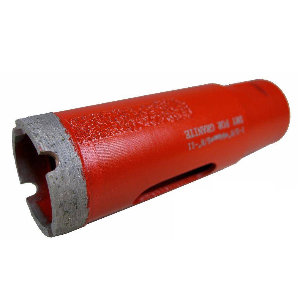 1-3/8 in. Dry Diamond Core Bit with Side Strips for Granite