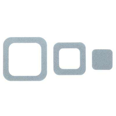 Adhesive Square Treads in Gray (21-Count)