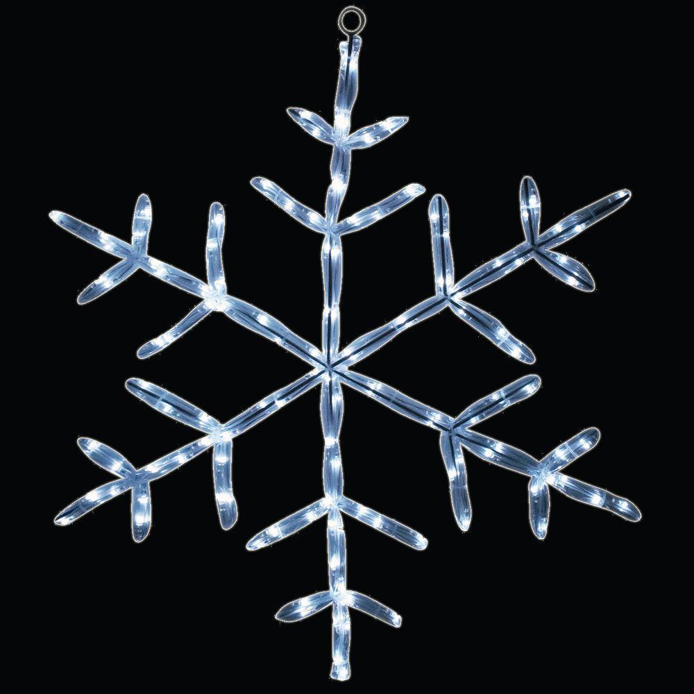 18 in. 20 LED White Tube Snowflake Light