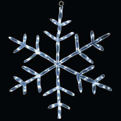 18 in. 20 LED White Tube Snowflake Light
