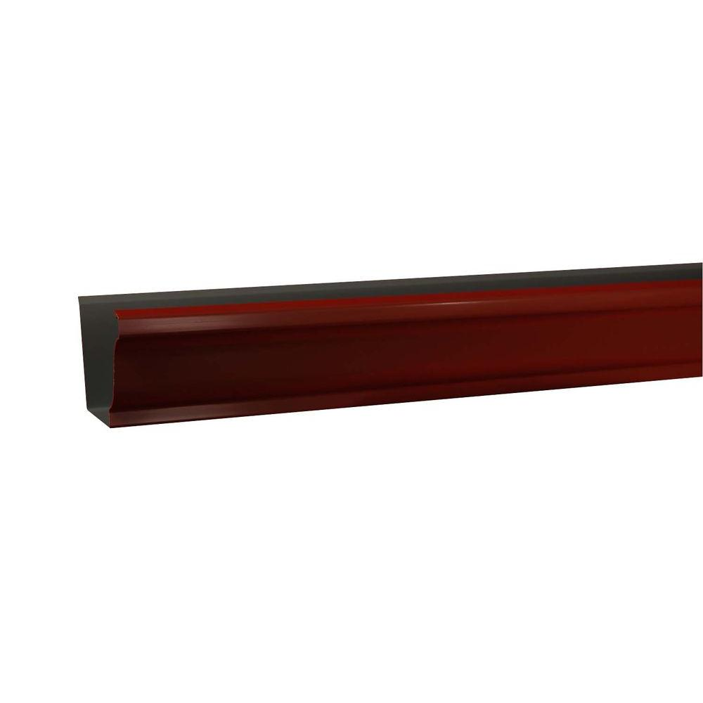 Amerimax Home Products 5 in. x 10 ft. K-Style Red Aluminum Gutter