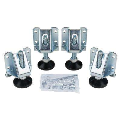 Heavy-Duty Leveler Legs with Lock Nuts (4-Pack)