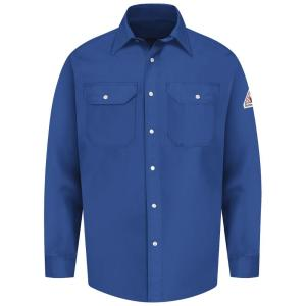 396ece0690d Bulwark EXCEL FR Men s X-Large (Tall) Royal Blue Snap-Front Uniform Shirt