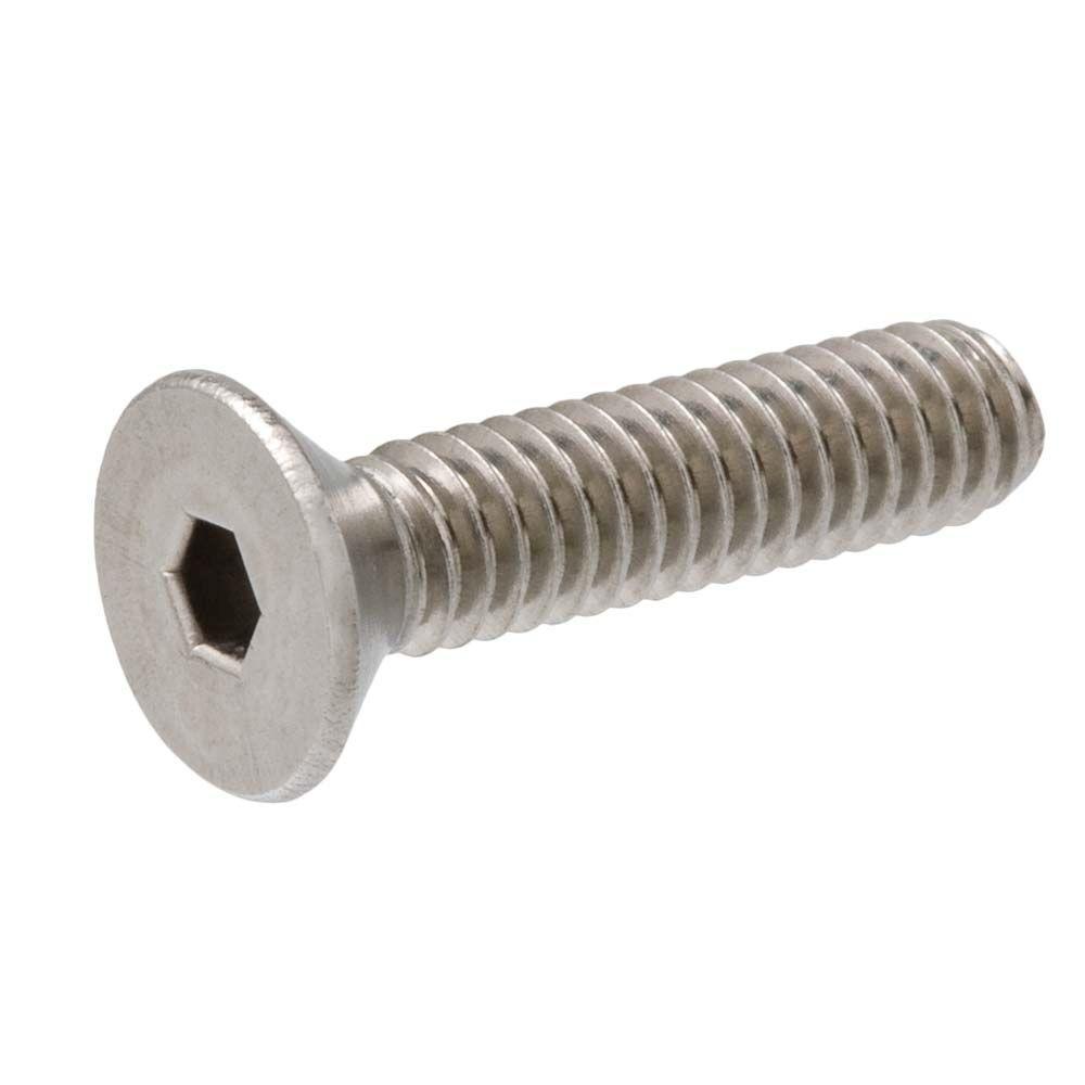 1/4 in.-20 x 1-3/4 in. Hex Flat Head Stainless Steel Socket Cap Screw