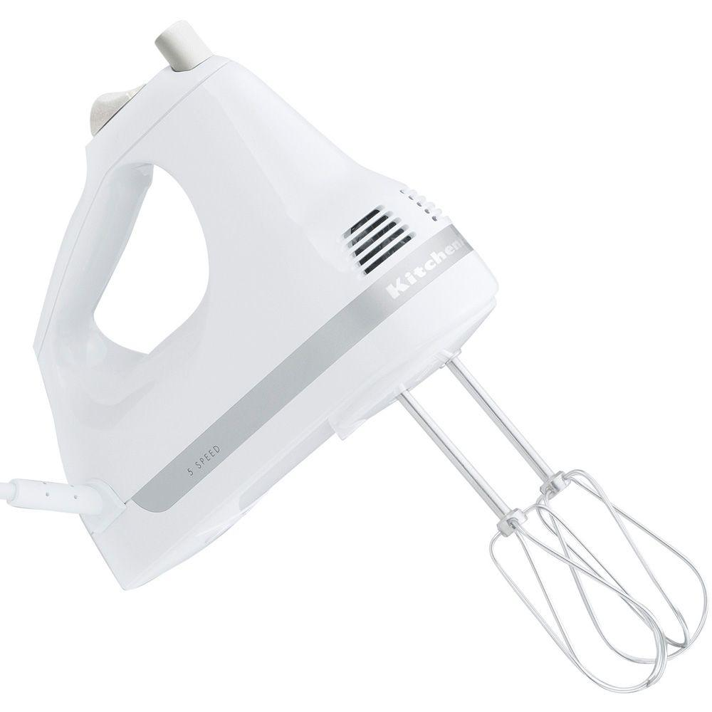 KitchenAid 5-Speed Ultra Power Hand Mixer in White-DISCONTINUED