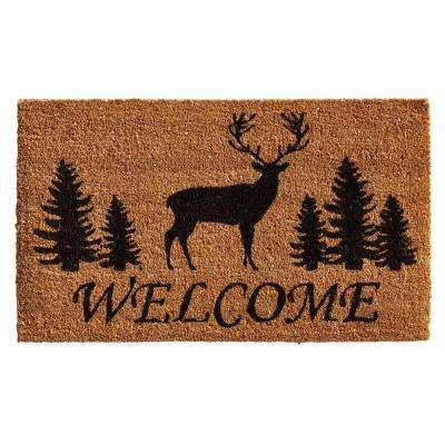 Elk Forest Welcome 24 in. x 36 in. Door Mat
