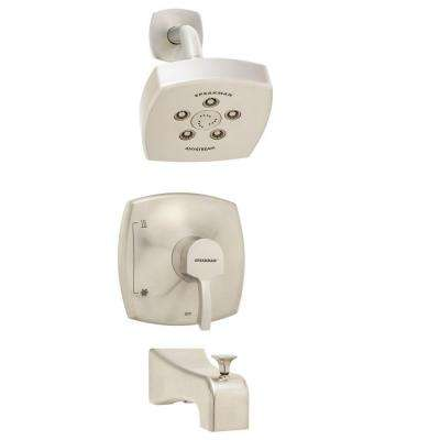 Tiber Single-Handle 3-Spray Tub and Shower Faucet in Brushed Nickel (Valve Included)