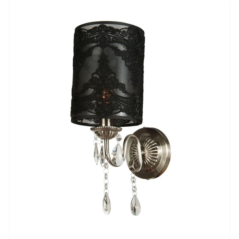 Filament Design Xavier 1-Light Black Incandescent Wall Sconce