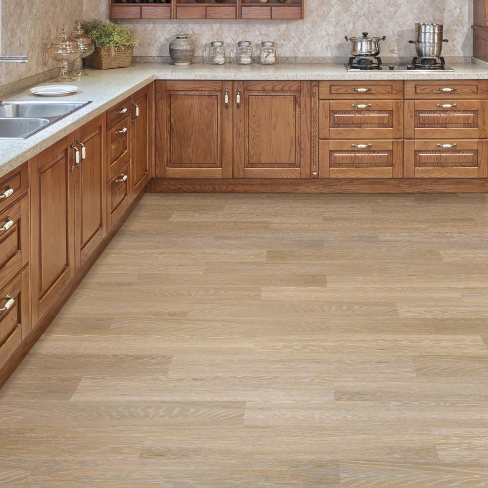 Vinyl Plank Flooring With Oak Cabinets