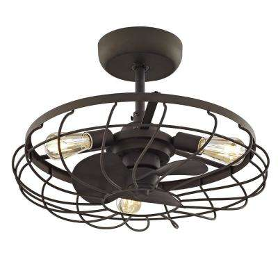 Santiago 21 in. Aged Bronze Ceiling Fan with 3 Lights