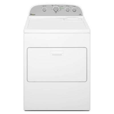 7.0 cu. ft. 120 Volt White Gas Vented Dryer with Wrinkle Shield Plus