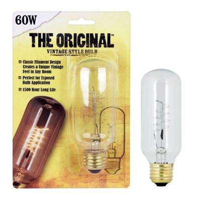 60W Soft White T14 Dimmable Incandescent Antique Edison Amber Glass Filament Vintage Style Light Bulb (24-Pack)