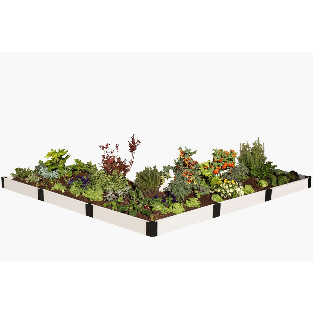 Frame It All 12 ft. x 12 ft. x 8 in. Classic White Compos...