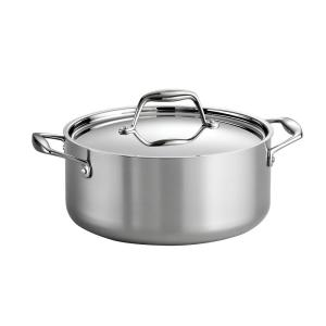Gourmet Tri-Ply Clad 5 qt. Round Stainless Steel Dutch Oven with Lid