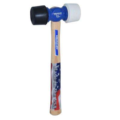 24 oz. Rubber Mallet with 14 in. Hickory Handle