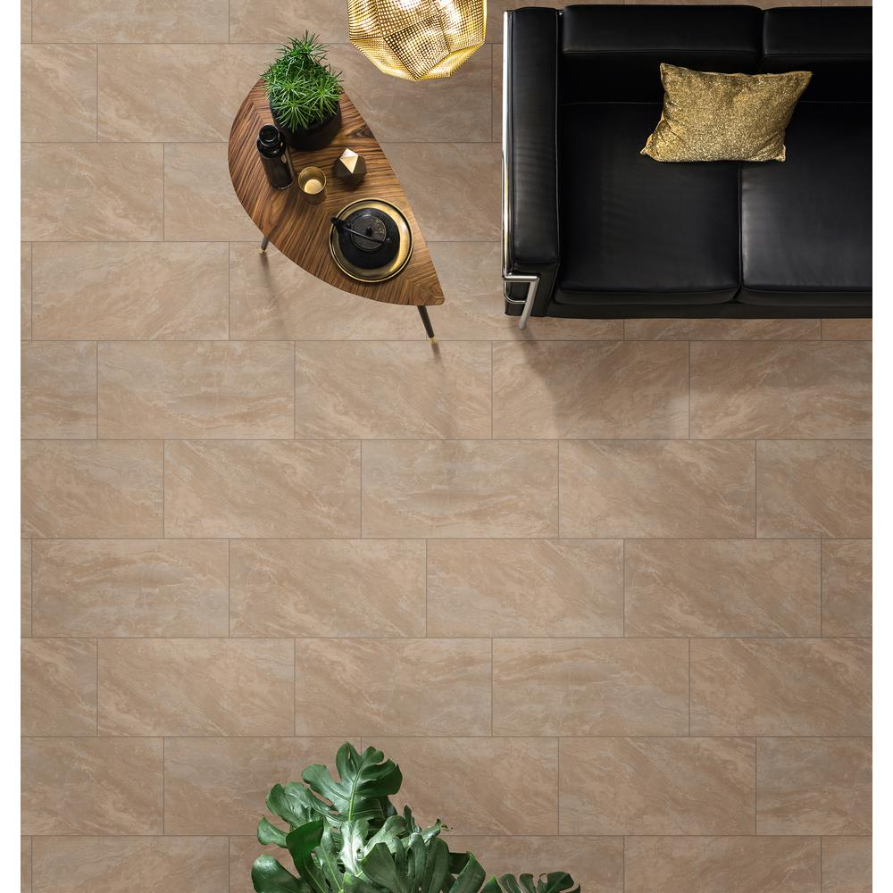 Msi Onyx Sand 12 In X 24 Glazed Porcelain Floor And Wall Tile 16 Sq Ft Case