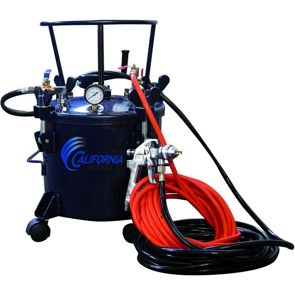 California Air Tools 5 Gal. Pressure Pot Paint Sprayer with HVLP Spray Gun and Hose Kit by California Air Tools