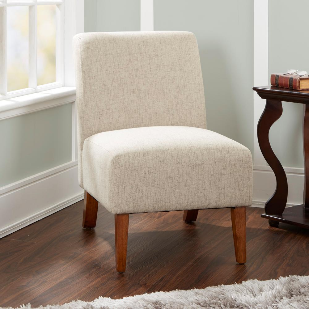 Bon Silverwood Addison Beige Upholstered Accent Chair