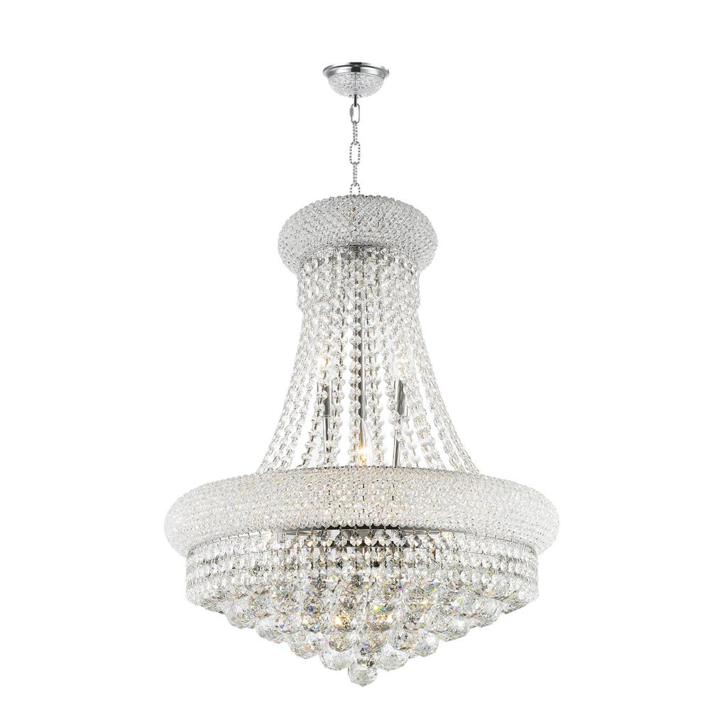 Worldwide lighting empire 14 light polished chrome chandelier with worldwide lighting empire 14 light polished chrome chandelier with clear crystal aloadofball