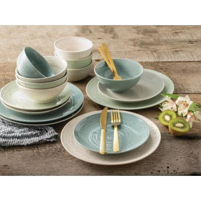 Siterra 16-Piece Casual Mixed Stoneware Dinnerware Set (Service for 4)