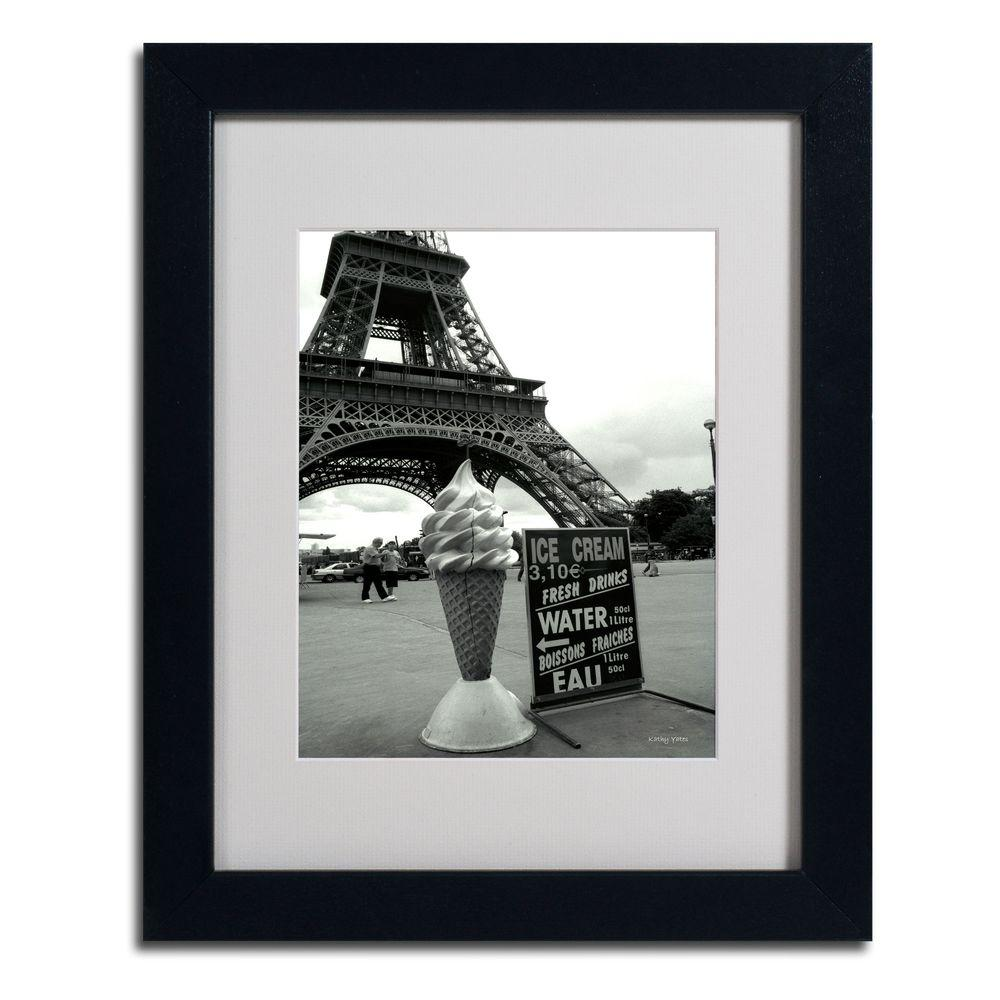 11 in. x 14 in. Eiffel Tower Ice Cream Cone Matted