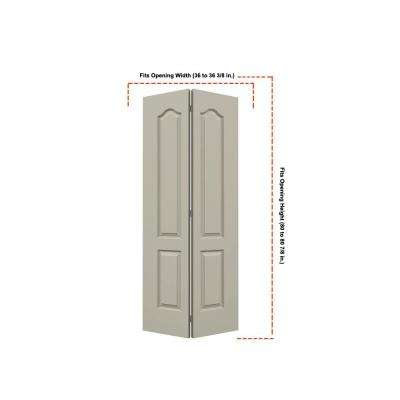 36 in. x 80 in. Princeton Desert Sand Painted Smooth Molded Composite MDF Closet Bi-fold Door