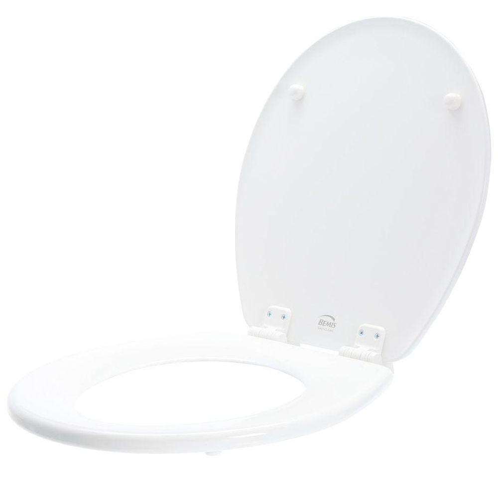 Lift-Off Never Loosens Round Closed Front Toilet Seat in White