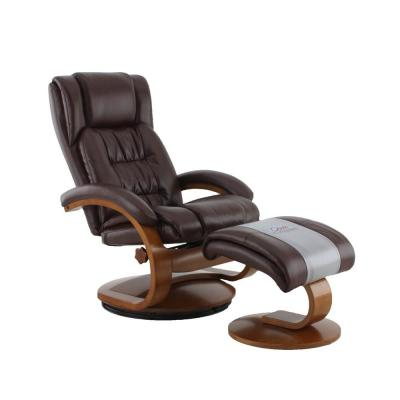 Norfolk Whisky Air Leather Recliner with Ottoman