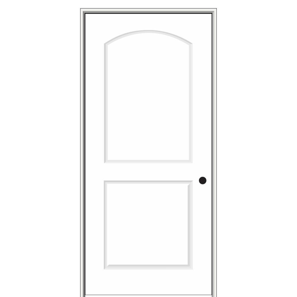 MMI Door 16 in. x 80 in. Smooth Caiman Left-Hand Solid Core Primed Molded Composite Single Prehung Interior Door