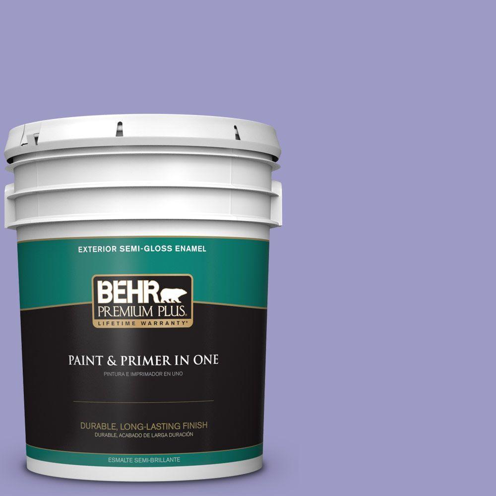 5-gal. #630B-5 Majestic Violet Semi-Gloss Enamel Exterior Paint