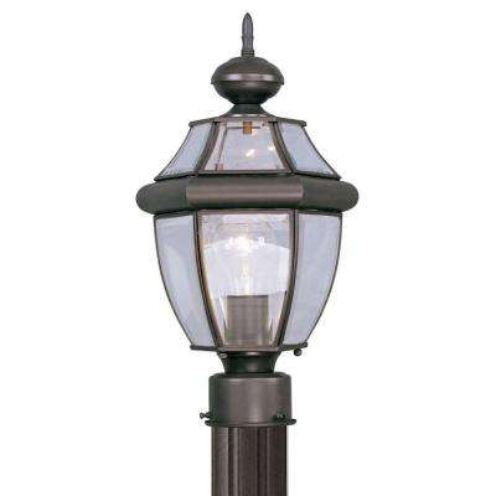 Providence 1-Light Outdoor Bronze Incandescent Post Lantern