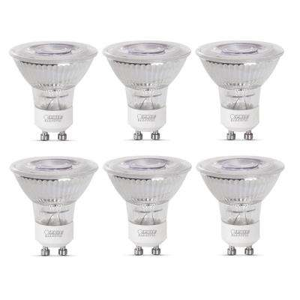 35-Watt Equivalent MR16 GU10 Dimmable CEC Title 20 Compliant LED 90+ CRI Flood Light Bulb, Daylight (6-Pack)