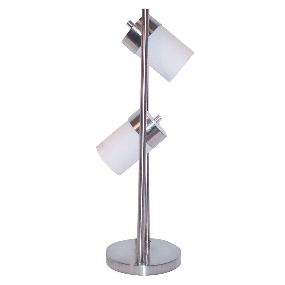 ORE International 25 In. 2 Light White Adjustable Table Lamp 3031TW   The  Home Depot