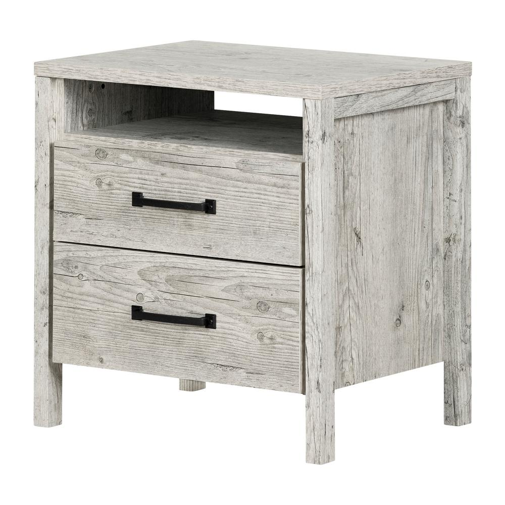 SouthShore South Shore Gravity 2 -Drawer Seaside Pine Nightstand