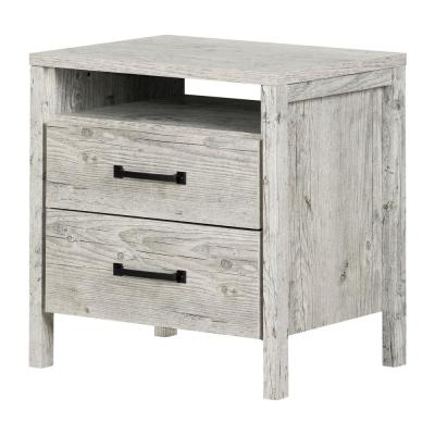 Gravity 2 -Drawer Seaside Pine Nightstand