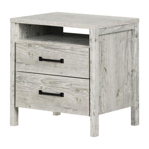 South Shore Gravity 2 -Drawer Seaside Pine Nightstand 11898