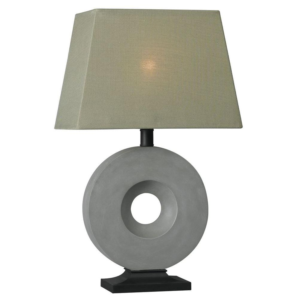 Kenroy Home Neolith 26 in. Concrete Outdoor Table Lamp